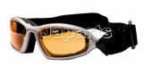 Motorglasses Rattler Silver/Orange