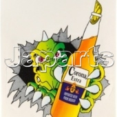 Corona Sticker 125x150mm