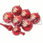 Suzuki Christmas Baubles Set Red