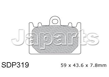 Maintenance > Brake pads > DP Brakepads SDP 319 Front