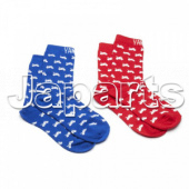 Yamaha Xmass 2 Pair Socks Red-Blue