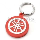 TUNING FORK PVC KEYCHAIN RED